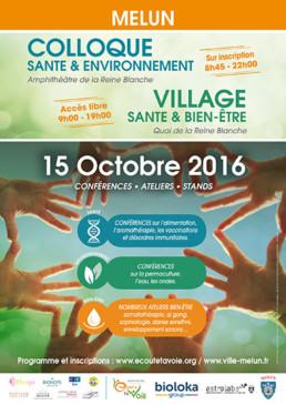 Colloque Sante Environnement Melun Affiche